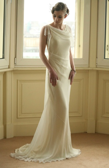 Bias Cut Silk Wedding Dress