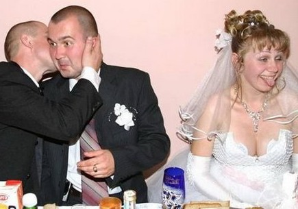 Drunk Bride and Groom