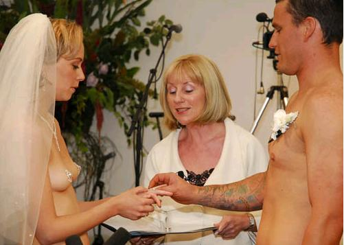 """Saying """"I do"""" in the buff"""