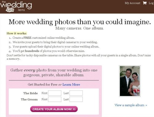 The lens that sees RIGHT INTO YOUR WEDDING