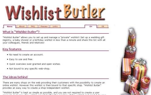 Don't we all need a butlet now and then?