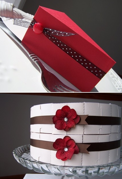 cake shaped favor boxes