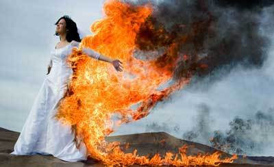 burning-wedding-dress
