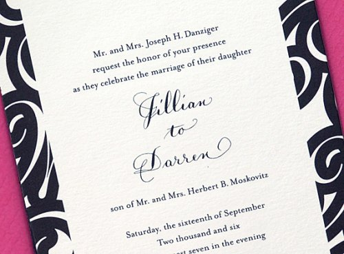 Simple choose telling wedding invitations like these from Two Paperdolls