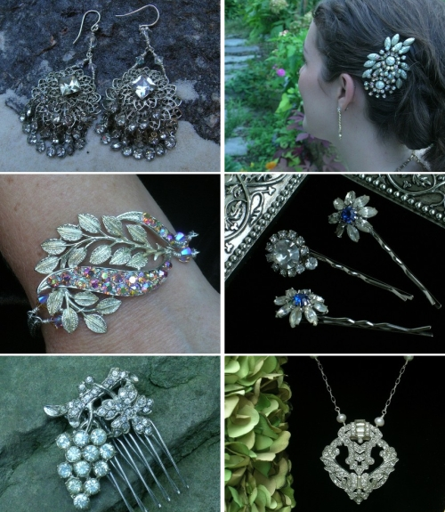 Bel Canto specializes in one of a kind bridal jewelry crafted from vintage