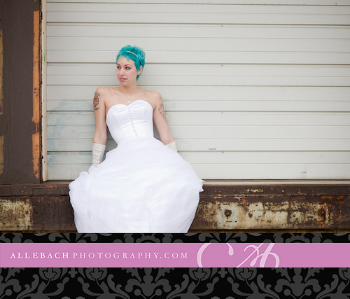 Tattooed Bride by Allebach Photography