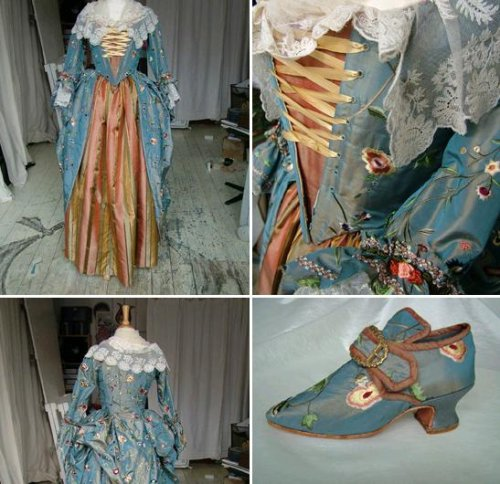 The period wedding gown itself was created by Kindred Spirits which creates