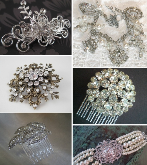 rhinestone wedding jewelry