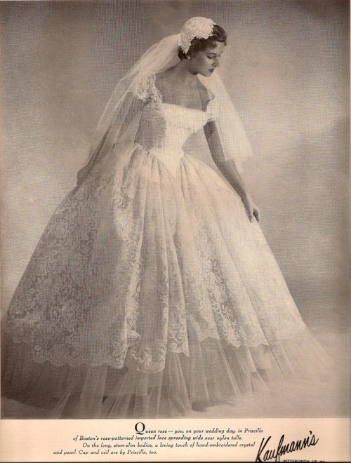 and wedding gowns are concerned Check out these vintage bridal ads