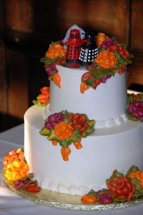 Dalek wedding cake
