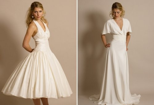 Vintage wedding dresses On the left we have 39Marilyn 39 a classic 1950 39s
