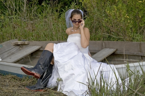 Weird wedding photographs