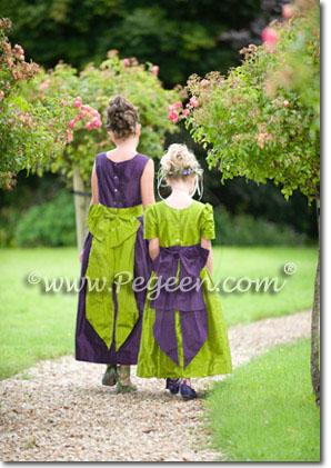 purple-green-flower-girl-dresses