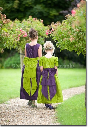 purplegreenflowergirldresses More Pegeen styles this time with a