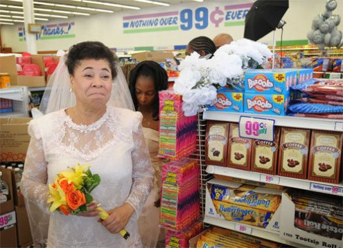 99- cent wedding bride