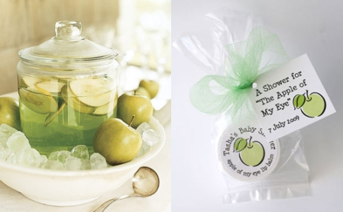 Green apple wedding reception accessories