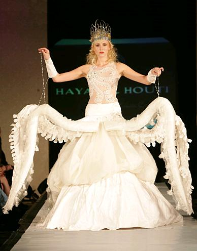 octopus wedding gown