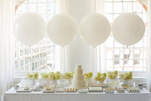 white wedding dessert table
