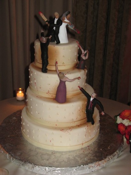 Zombie Wedding Cake