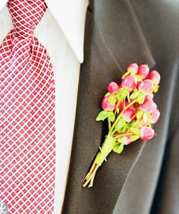 red and gray groomsmen