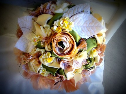 ribbon bouquet
