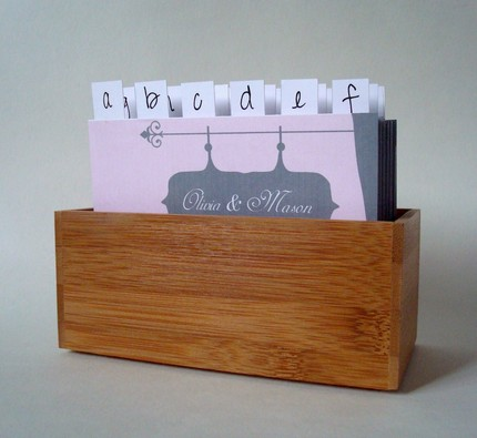 wedding guestbook box 2 Many of the divider designs can be customized with