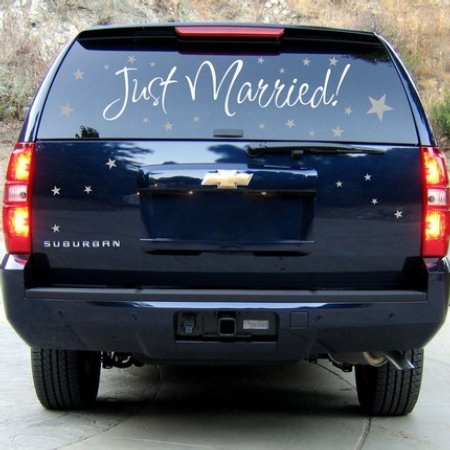 wedding limo decal