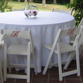 Reception table chairs can 39t escape all the monogramming My Wedding Decals