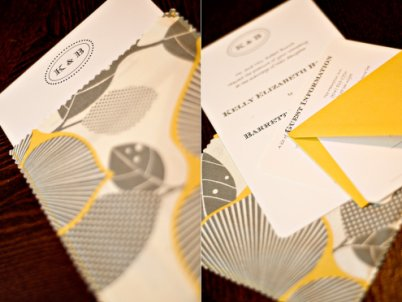 yellow and gray invitations These invitations coordinate nicely via