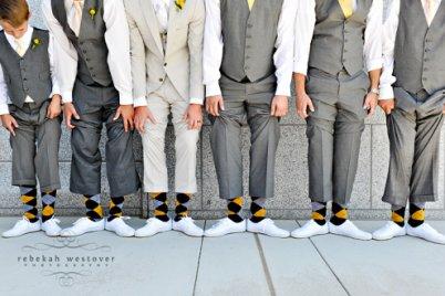 yellow and gray menswear