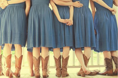 bridesmaids in cowboy boots 2
