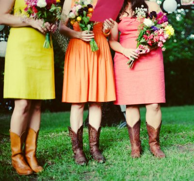 bridesmaids in cowboy boots 3