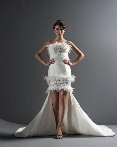 justin alexander short wedding dress