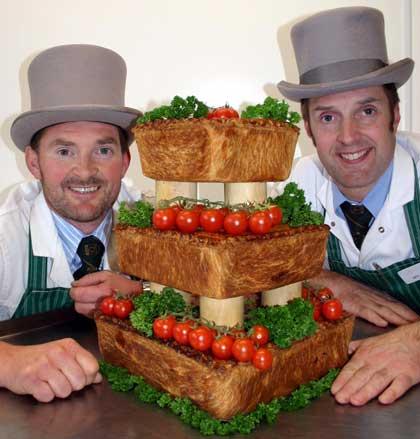 meat wedding cake