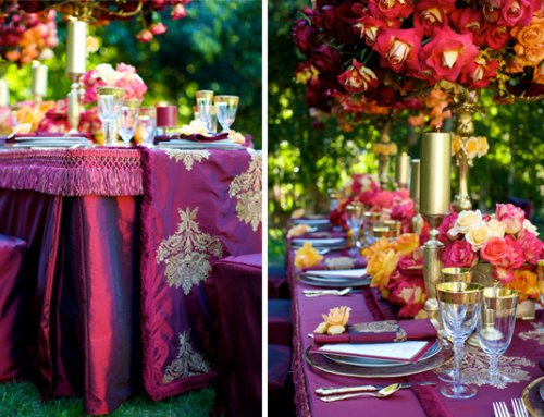 purple reception tables 2
