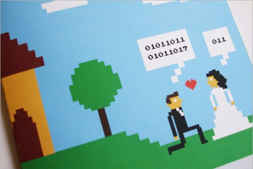 video game wedding invitation 1