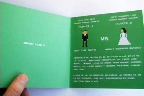 video game wedding invitation 2