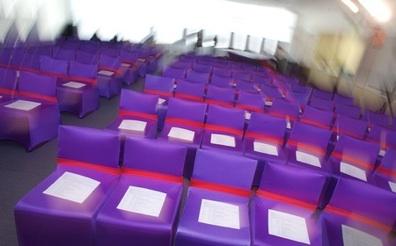 Purple Spandex Chair Covers