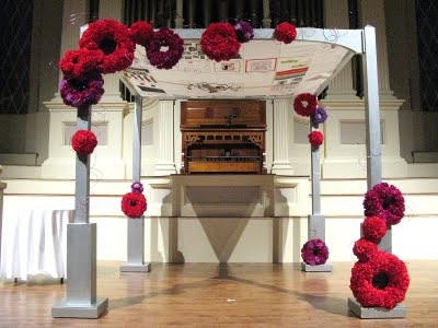 Purple and Red Chuppah