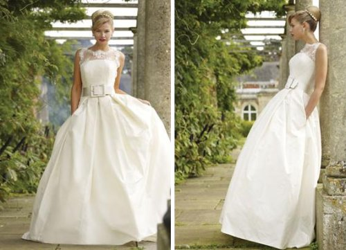 belted wedding dress