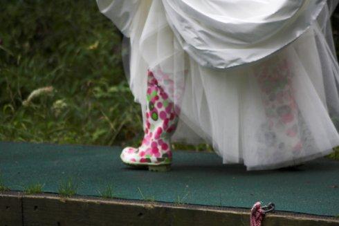 bride in rainboots