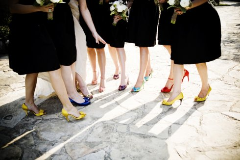 mismatched bridesmaids shoes