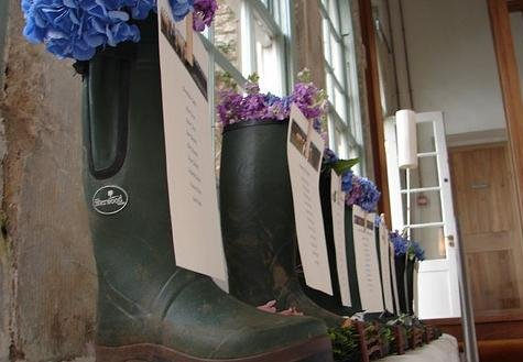 reception seating chart boots