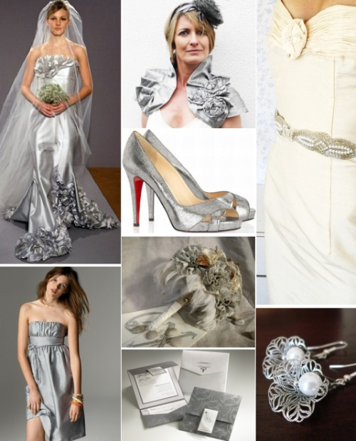 silver wedding inspiration board