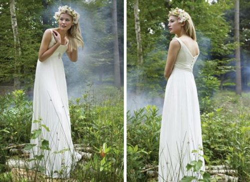 simple wedding dress What I like Is that a fairy or a water sprite or what