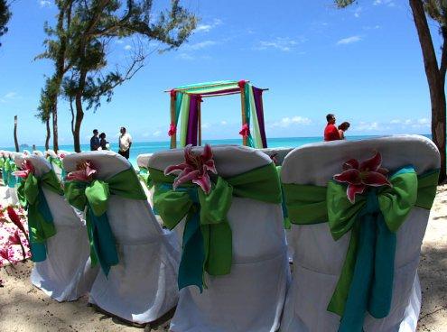 aqua and lime wedding 3