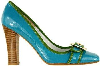 aqua and lime wedding bridal shoes