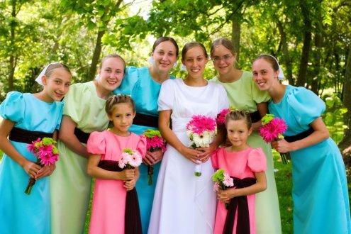 aqua and lime wedding 5