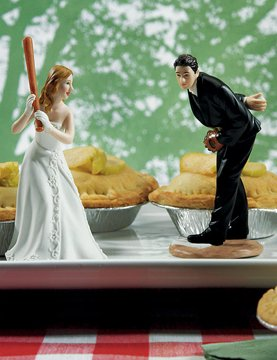 baseball wedding cake topper