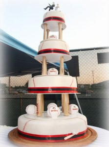 baseball wedding cake